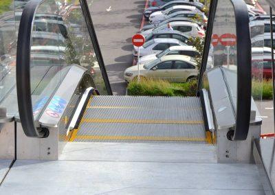 Escala mecànica instal·lada a Parets del Vallès