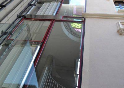 Instal·lació d'ascensor exterior