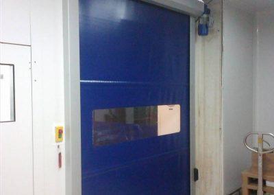 Porta ràpida instal·lat a Mataró