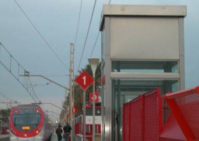 Vista ascensor estació de rodalies Vilassar de Mar